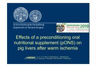 Effects of a preconditioning oral nutritional supplement (pONS) - VDOe