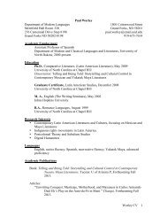 Worley CV 1 Paul Worley Department of Modern Languages ...