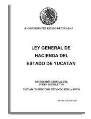 Ley General de Hacienda - Inicio - Gobierno del Estado de Yucatán