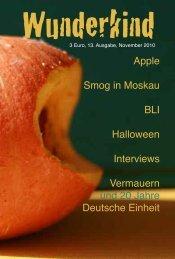 Apple Smog in Moskau BLI Halloween Interviews Vermauern und ...