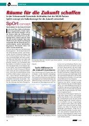 Räume für die Zukunft schaffen - SpOrt concept