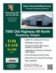 7800 Oldy Hwy 99 N.indd - Roseburg Commercial Real Estate