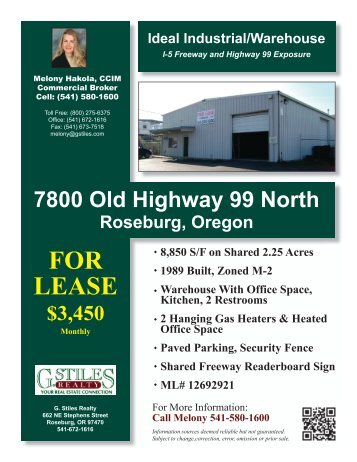 7800 Oldy Hwy 99 N.indd - Roseburg Commercial Real Estate