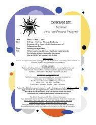 OOMPAH Summer Arts Brochure - Huntington Union Free School ...