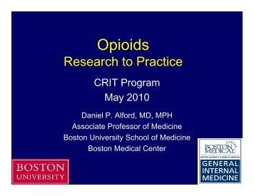 2. Opioids - Boston University School of Medicine