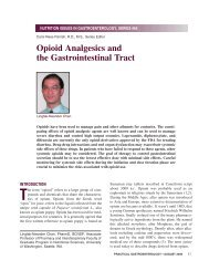 Opioid Analgesics and the Gastrointestinal Tract - Medicine