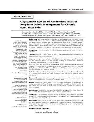A Systematic Review of Randomized Trials of Long-Term Opioid ...