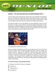 Erfolgreich beim Training sein - als PDF zum Download - Dunlop Sport