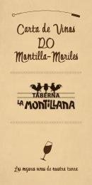 carta de vinos - Taberna la Montillana