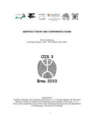 abstract book and conference guide - Geologický ústav Akademie ...