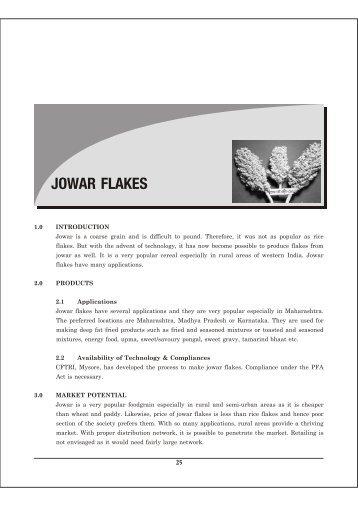 04 Jowar Flakes - Ministry of Food Processing Industries