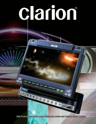 Clarion's Ultimate Mobile Entertainment Systems - Ed and Helen ...