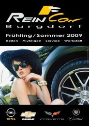 Frühling/Sommer 2009 Reifen – Alufelgen – Service - ReinCar AG