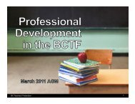 Professional Development in the BCTF