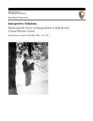 Interpretive Solutions - Explore Nature - National Park Service