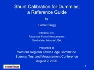 Shunt Calibration for Dummies; a Reference Guide - Interface Force
