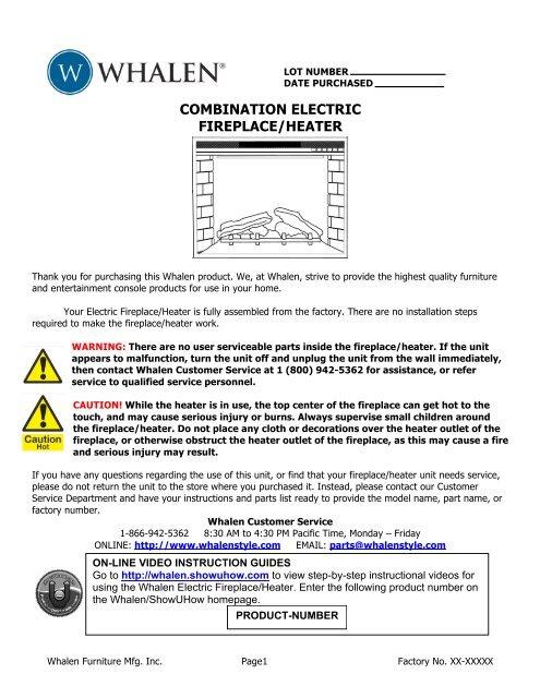 Whalen Windham Combination Electric Fireplace Rick Horwath