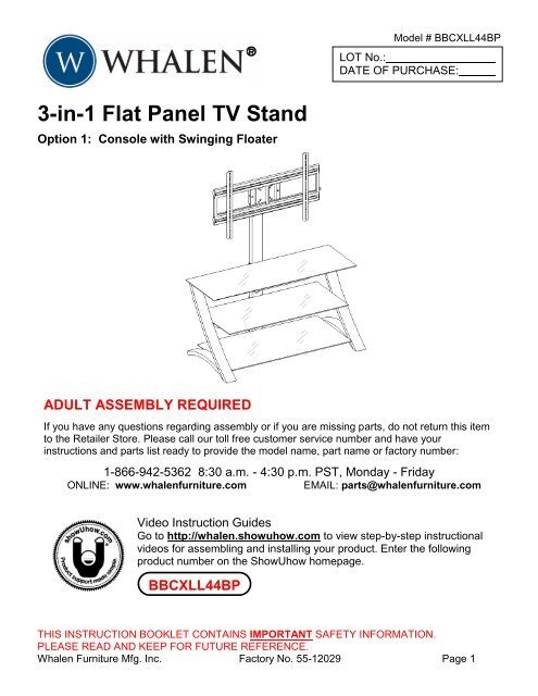 3 In 1 Flat Panel Tv Stand Showuhow