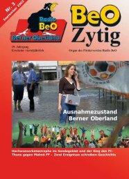 Aussenstudio Lötschberg Ausnahmezustand Berner ... - Radio BeO