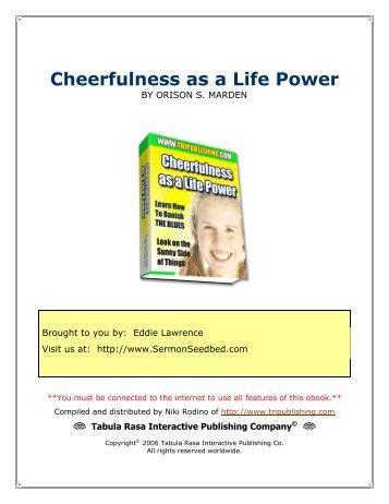 Cheerfulness as a Life Power - Sermon Seedbed