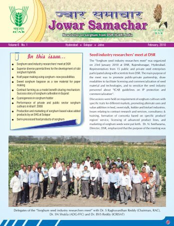 jowar samachar feb 2010 - Directorate of Sorghum Research