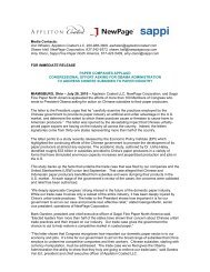 Media Contacts: Ann Whalen, Appleton Coated ... - Uswa12943.org