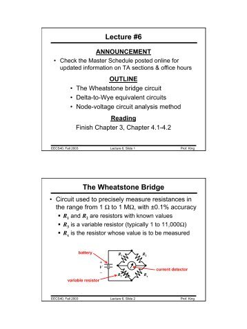 wheatstone bridge analysis