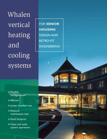 Whalen vertical heating and cooling systems - The Whalen Company