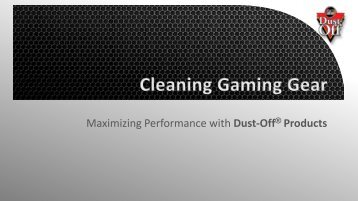 Dust-Off Gaming Gear Wipes