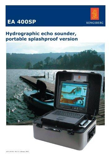 EA 400SP portable splashproof single beam - Kongsberg Maritime