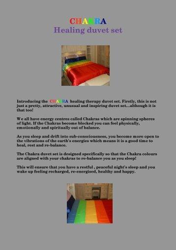 CHAKRA Healing duvet set - Home Holistics