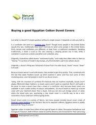 Buying a good Egyptian Cotton Duvet Covers - Bookyards.com