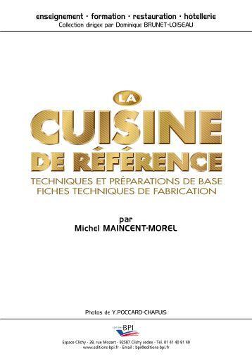 Cap connaissances technologiques de cuisine en pdf - La cuisine de reference ...