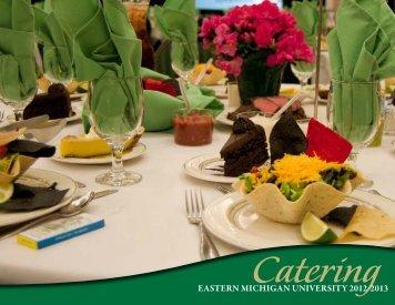 Catering Menu Packet (PDF) - Eastern Michigan University