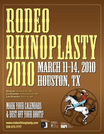 Mark Your Calendars & Dust Off Your Boots! - Rodeo Rhinoplasty ...