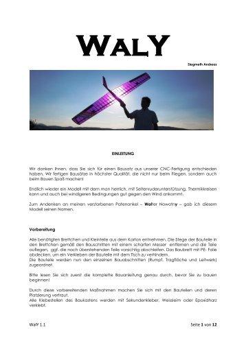 WalY 1.1 Seite 1 von 12 - Modellbau Lenz