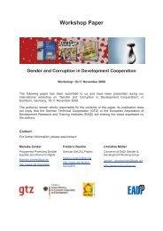 Workshop Paper Gender and Corruption in Development ... - GIZ