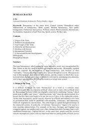Bureaucracies - eolss