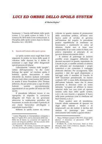 Luci ed ombre dello spoils system.pdf - CSDDL.it