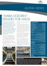 """MAriA DoLorES"" DELivErS for MALTA - Austal Ships"