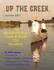 The Hackensack River Canoe & Kayak Club Newsletter
