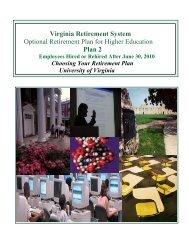 VRS and ORP Plan - UVA Human Resources - University of Virginia