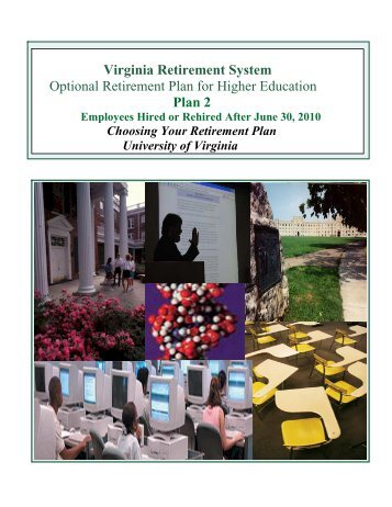 VRS and ORP Plan - UVA Human Resources - University of Virginia
