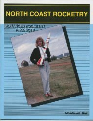 1989 North Coast Rocketry Catalog - Ninfinger Productions