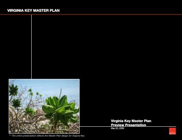 VIRGINIA KEY MASTER PLAN - City of Miami
