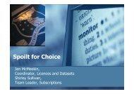 Spoilt for Choice - E-LIS