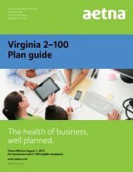 Virginia plan guide for 2-100 eligible employees - Aetna