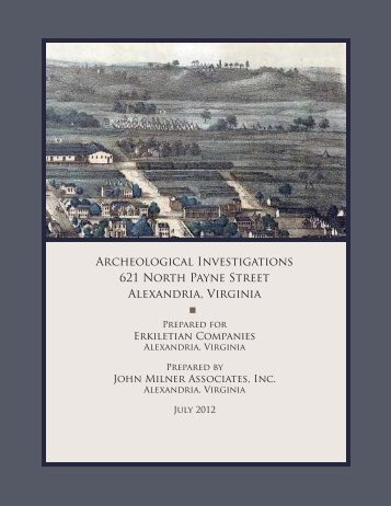 Archeological Investigations 621 North Payne ... - City of Alexandria