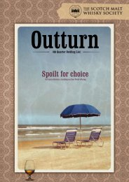 Spoilt for choice - The Scotch Malt Whisky Society