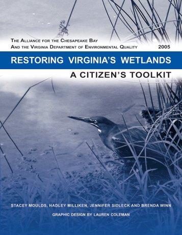 restoring VirginiA's WetlAnds - The Virginia Department of ...